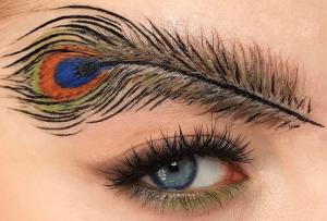 Eyebrow Trend - Peacock