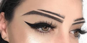 Eyebrow Trend - Split Brows