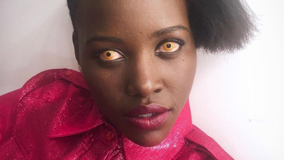 lupita nyongo bleached brows